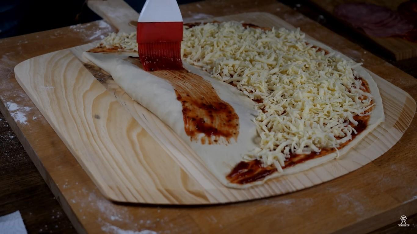 Рецепт пиццы. Двойная пицца.