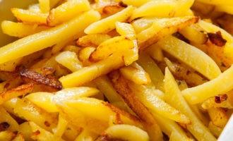 """Рецепт жареной картошки """"Три масла"""""""