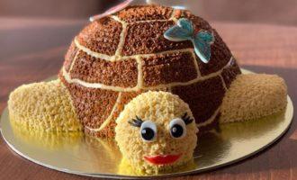 Как мы с мамой испекли торт «Черепаха»