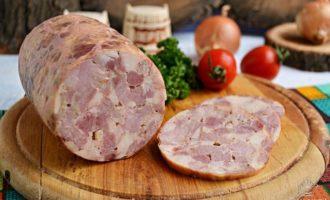 Как приготовить рубленную ветчину и мясной рулет у себя дома. Пошаговый рецепт.