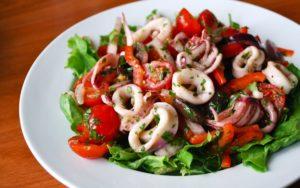 Кальмар в салате