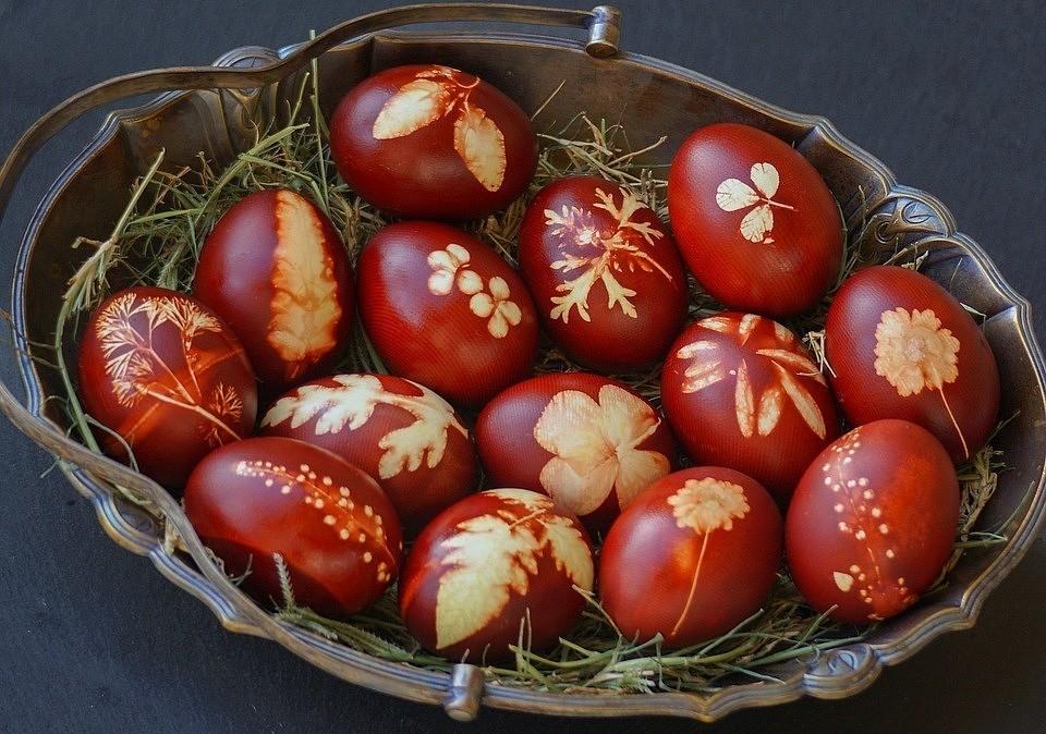 Волшебство покраски яиц в луковой шелухе